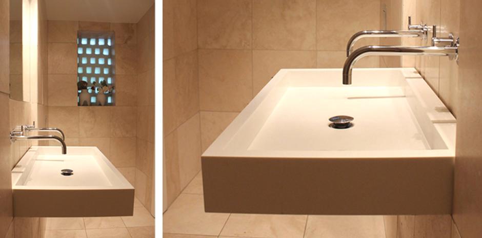 HareskovByTegnestuen - Special designet håndvask i corian